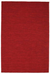 Kilim Loom - Dark Red Rug 160X230 Authentic  Modern Handwoven Crimson Red (Wool, India)