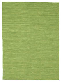 Kilim Loom - Green Rug 160X230 Authentic  Modern Handwoven Olive Green (Wool, India)