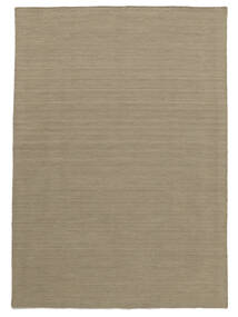 Kilim Loom - Light Grey/Beige Rug 140X200 Authentic  Modern Handwoven Light Grey (Wool, India)