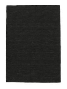 Kilim Loom - Black Rug 140X200 Authentic  Modern Handwoven Dark Grey (Wool, India)