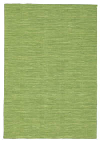Kilim Loom - Green Rug 140X200 Authentic  Modern Handwoven Olive Green/Light Green (Wool, India)