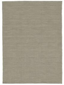 Kelim Loom - Hellgrau/Beige Teppich  120X180 Echter Moderner Handgewebter Hellgrau (Wolle, Indien)