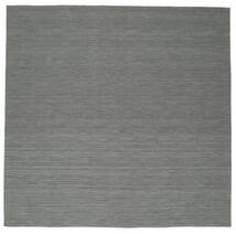 Kilim Loom - Dark Grey Rug 300X300 Authentic  Modern Handwoven Square Dark Grey/Light Grey Large (Wool, India)