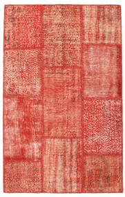Patchwork Szőnyeg 120X191 Modern Csomózású Piros/Világos Rózsaszín (Gyapjú, Törökország)