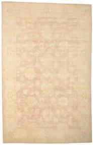 Ziegler Matto 194X302 Itämainen Käsinsolmittu Tummanbeige/Keltainen (Villa, Pakistan)