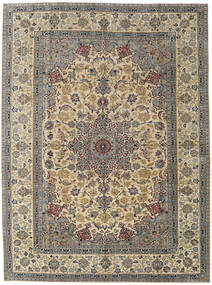 Najafabad Patina Rug 283X380 Authentic  Oriental Handknotted Olive Green/Light Brown Large (Wool, Persia/Iran)