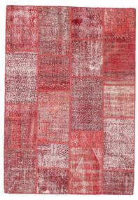 Patchwork Dywan 161X233 Nowoczesny Tkany Ręcznie Rdzawy/Czerwony/Ciemnobeżowy/Fioletowy (Wełna, Turcja)