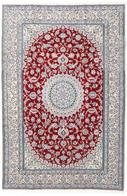 Nain 9La Rug 204X304 Authentic  Oriental Handknotted White/Creme/Light Grey (Wool/Silk, Persia/Iran)