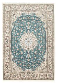 ナイン 9La 絨毯 210X306 オリエンタル 手織り 薄い灰色/ベージュ (ウール/絹, ペルシャ/イラン)