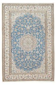 Nain 9La Rug 200X300 Authentic  Oriental Handknotted Beige/Light Grey (Wool/Silk, Persia/Iran)