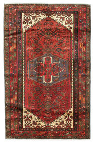 Saveh Matta 124X202 Äkta Orientalisk Handknuten Mörkröd/Mörkbrun (Ull, Persien/Iran)