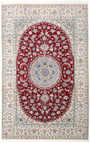 Nain 9La Rug 202X315 Authentic  Oriental Handknotted Beige/Light Grey (Wool/Silk, Persia/Iran)