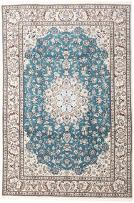Nain 9La Rug 203X304 Authentic  Oriental Handknotted Beige/White/Creme (Wool/Silk, Persia/Iran)