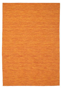 Kilim Loom - Orange Rug 200X300 Authentic  Modern Handwoven Orange (Wool, India)