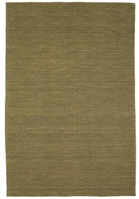 Kilim Loom - Olive Rug 200X300 Authentic  Modern Handwoven Olive Green (Wool, India)