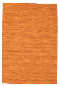 Kilim Loom - Orange Rug 160X230 Authentic  Modern Handwoven Orange (Wool, India)
