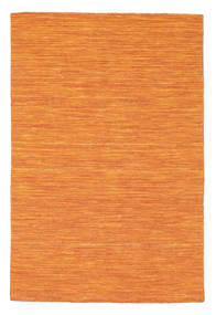 Kilim Loom - Orange Rug 120X180 Authentic  Modern Handwoven Orange (Wool, India)