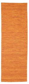 Kilim Loom - Orange Rug 80X250 Authentic  Modern Handwoven Hallway Runner  Orange (Wool, India)