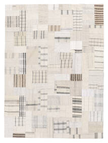 Kilim Patchwork Rug 170X229 Authentic  Modern Handwoven Beige/White/Creme (Wool, Turkey)