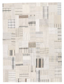 Kilim Patchwork Rug 170X230 Authentic  Modern Handwoven Beige/Light Grey (Wool, Turkey)