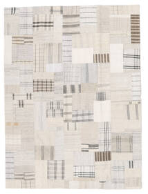 Kilim Patchwork Rug 171X230 Authentic  Modern Handwoven Beige/White/Creme (Wool, Turkey)