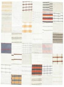 キリム パッチワーク 絨毯 170X229 モダン 手織り ベージュ/ホワイト/クリーム色 (ウール, トルコ)