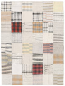 Kilim Patchwork Rug 171X229 Authentic  Modern Handwoven White/Creme/Beige (Wool, Turkey)