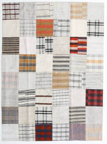 Kilim Patchwork Rug 170X231 Authentic  Modern Handwoven White/Creme/Beige (Wool, Turkey)