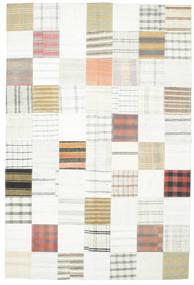 Kilim Patchwork Rug 202X301 Authentic  Modern Handwoven Beige/White/Creme (Wool, Turkey)