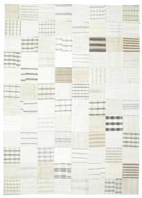 Kelim Patchwork Matto 249X347 Moderni Käsinkudottu Valkoinen/Creme/Beige (Villa, Turkki)