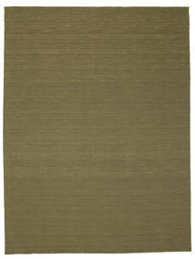 キリム ルーム - オリーブ 絨毯 300X400 モダン 手織り オリーブ色 大きな (ウール, インド)