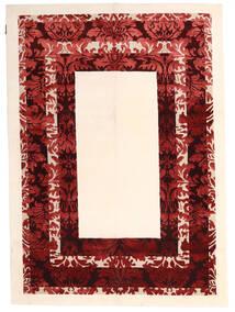 Himalaya Dywan 150X210 Nowoczesny Tkany Ręcznie Beżowy/Ciemnoczerwony ( Indie)