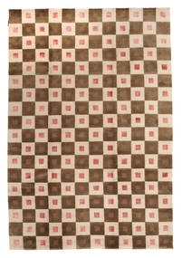 Himalaya Rug 193X282 Authentic  Modern Handknotted Beige/Dark Beige (Wool, India)