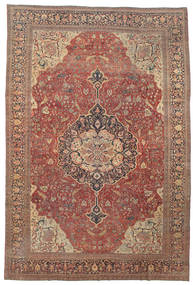 Farahan Rug 368X550 Authentic Oriental Handknotted Dark Grey/Light Grey Large (Wool, Persia/Iran)