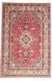 Hamadan Shahrbaf Tæppe 209X315 Ægte Orientalsk Håndknyttet Lyserød/Beige (Uld, Persien/Iran)