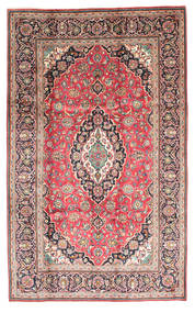 Keshan Rug 198X325 Authentic  Oriental Handknotted Purple/Dark Grey (Wool, Persia/Iran)