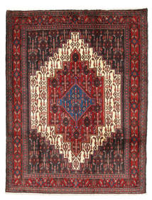 Senneh Rug 125X164 Authentic  Oriental Handknotted Dark Red/Dark Grey (Wool, Persia/Iran)