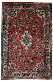Lillian Rug 198X317 Authentic  Oriental Handknotted Dark Red/Black (Wool, Persia/Iran)