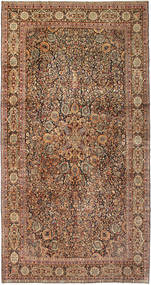 Kerman Alfombra 306X593 Oriental Hecha A Mano Marrón Claro/Marrón Grande (Lana, Persia/Irán)