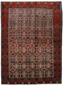 Lori Rug 140X194 Authentic  Oriental Handknotted Dark Red/Dark Brown (Wool, Persia/Iran)