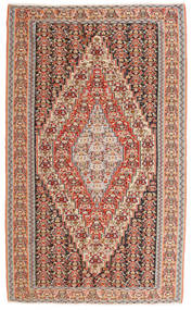 Kilim Senneh Rug 150X246 Authentic  Oriental Handwoven Dark Brown/Rust Red (Wool, Persia/Iran)