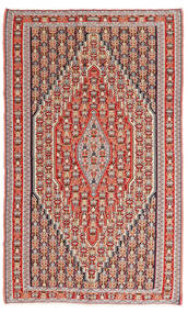 Kilim Senneh Rug 150X245 Authentic  Oriental Handwoven Brown/Rust Red (Wool, Persia/Iran)