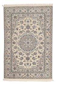 Nain 6La Matto 120X180 Itämainen Käsinsolmittu Vaaleanharmaa/Vaaleanruskea (Villa/Silkki, Persia/Iran)