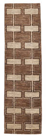 Ziegler Modern Rug 84X304 Authentic  Modern Handknotted Hallway Runner  Brown/Dark Brown (Wool, Pakistan)