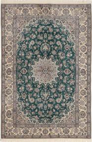 Nain 6La Rug 124X185 Authentic  Oriental Handknotted Light Grey/Dark Grey (Wool/Silk, Persia/Iran)