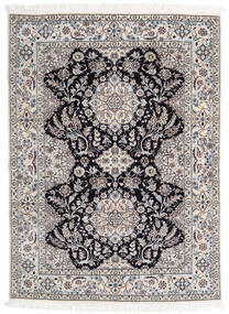 Nain 6La Rug 123X170 Authentic  Oriental Handknotted Light Grey/White/Creme (Wool/Silk, Persia/Iran)