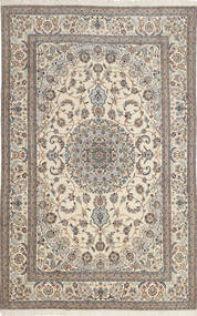 Nain 6La Rug 193X299 Authentic  Oriental Handknotted Light Grey/Beige (Wool/Silk, Persia/Iran)