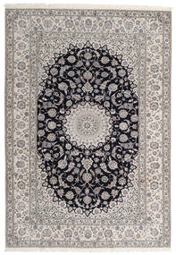 Nain 6La Rug 205X295 Authentic  Oriental Handknotted Light Brown/Light Grey (Wool/Silk, Persia/Iran)