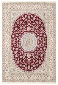 Naïn 6La Habibian Tapis 200X296 D'orient Fait Main Marron Clair/Marron Foncé/Gris Clair (Laine/Soie, Perse/Iran)