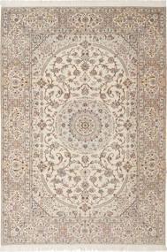 Nain 6La Habibian Matta 205X303 Äkta Orientalisk Handknuten Ljusbrun/Ljusgrå/Beige (Ull/Silke, Persien/Iran)